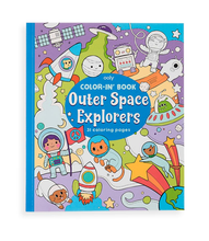 Load image into Gallery viewer, Color-in' Book: Outer Space Explorers