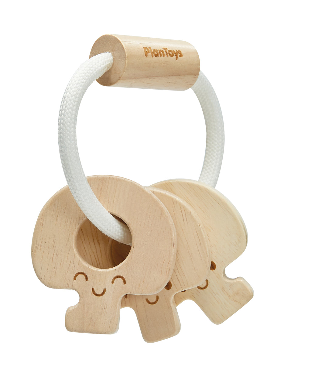 Baby Key Rattle - Natural - Things They Love
