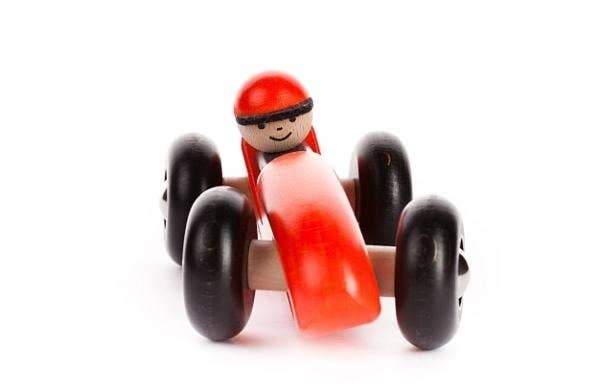 BAJO Wooden LR Racing Car Red