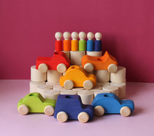 Load image into Gallery viewer, Pre-Order - 6 Rainbow Peg Dolls & Cars - Things They Love