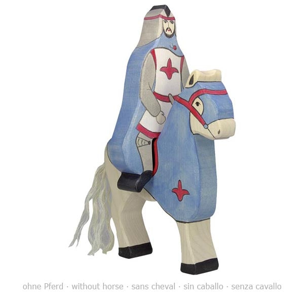 Blue Knight with Cloak, Riding (Without Horse)