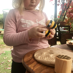 Bee Play Dough Stamps - Things They Love