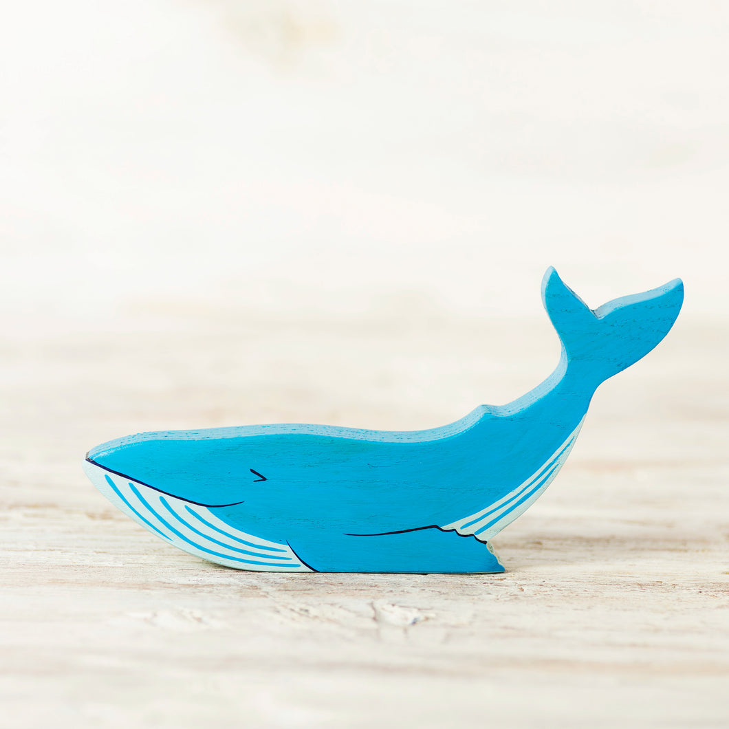 Wooden Blue Whale - Things They Love