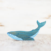 Load image into Gallery viewer, Wooden Blue Whale - Things They Love