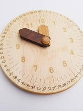 Load image into Gallery viewer, Wooden Clock Engraved with Minutes - Things They Love