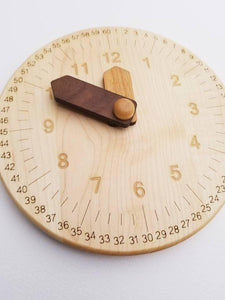 Wooden Clock Engraved with Minutes - Things They Love