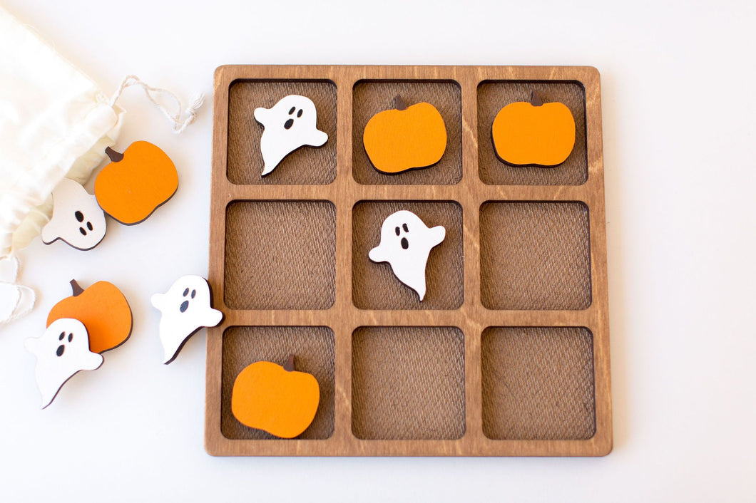 Ghosts vs. Pumpkin Tic-Tac-Toe