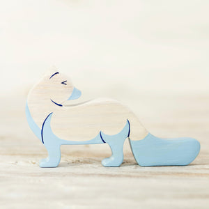 Wooden Polar Fox