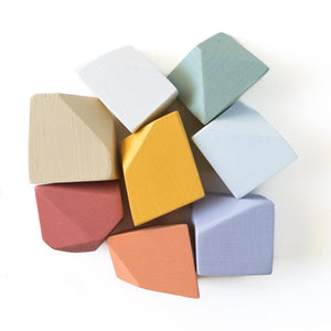 Matte Rainbow | 8 Set of Rock Blocks - Things They Love