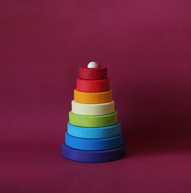 Rainbow Stacking Pyramid - Things They Love
