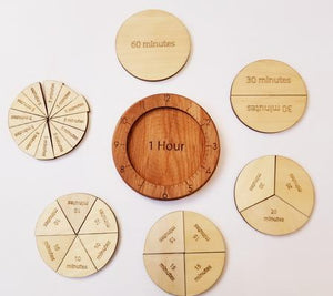 Time Fraction Circle - Things They Love