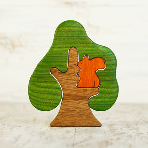 Wooden Tree w/ Squirrel (ETA Early Dec.) - Things They Love