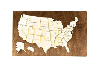 USA Map Puzzle - Things They Love