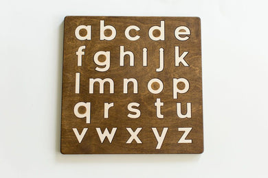 Lowercase Alphabet Puzzle - Things They Love