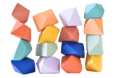 Confetti | 16 Set of Rock Blocks - Things They Love