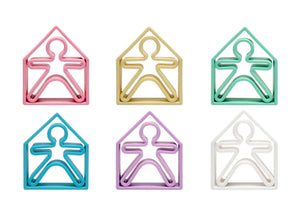 Pastel Kids & Houses 6 Pack (Assorted Pastel Colors)