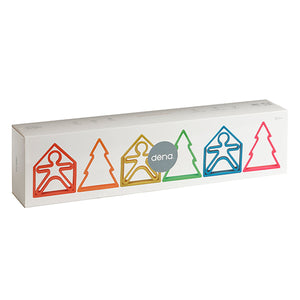 Neon Kids, Houses & Trees 6 Pack (Assorted Colors)