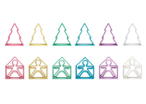 Pastel Kids Houses & Trees 6 Pack (Assorted Pastel Colors)