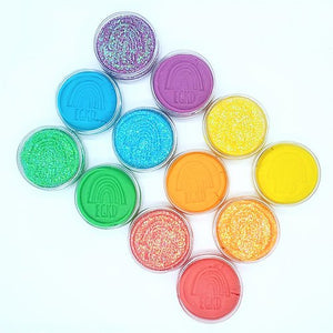 Glitter Rainbow Dough Scented