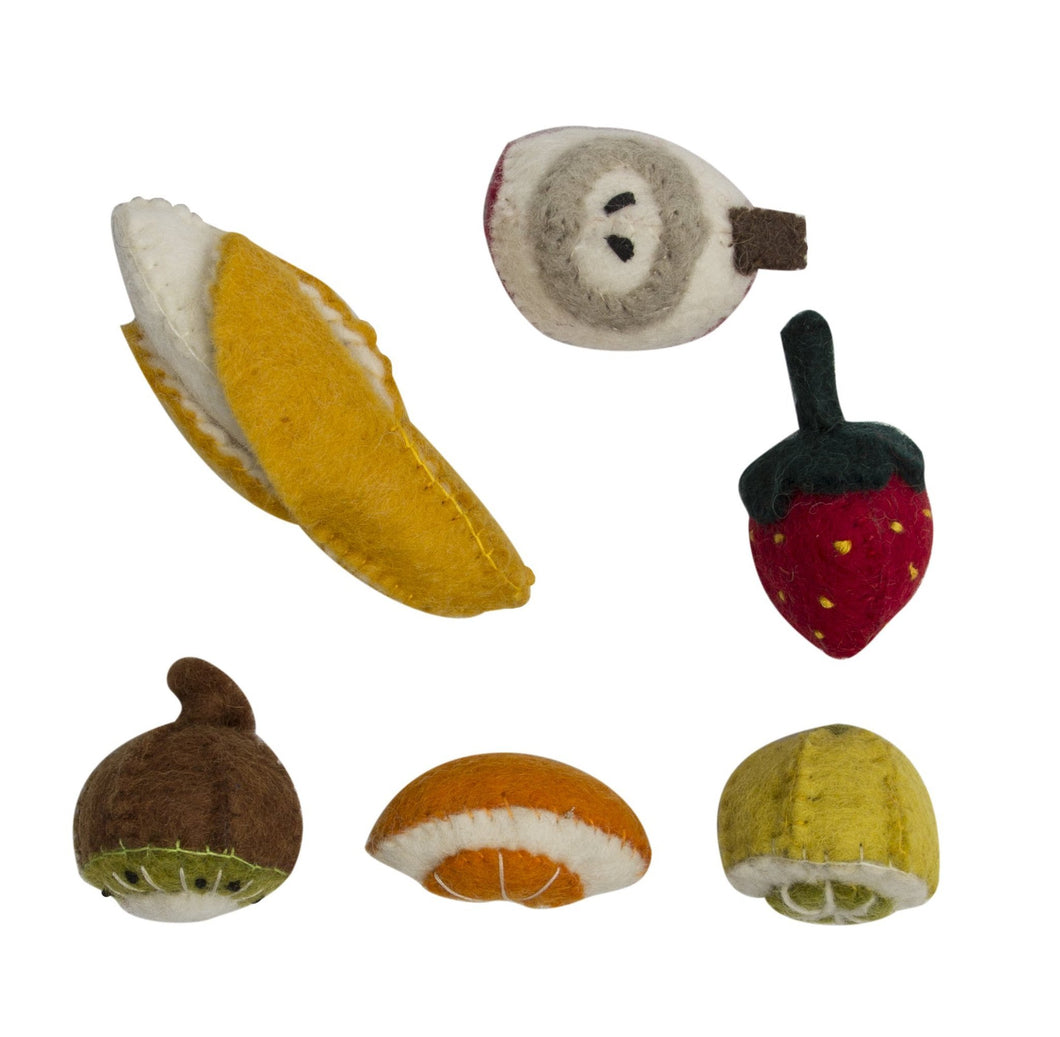 Mini Felt Fruit Set (6 pc)