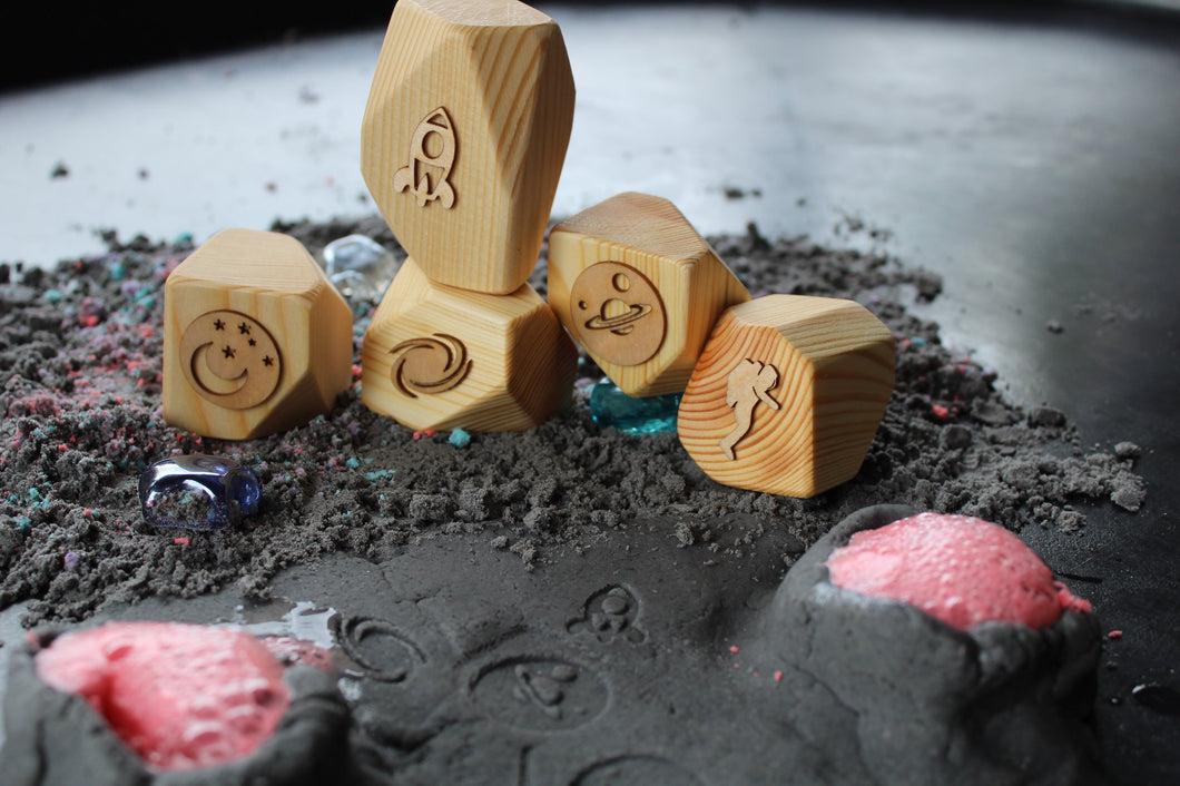Space Play Dough Stamps - Things They Love