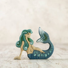 Load image into Gallery viewer, Wooden Mermaid (ETA Early December)