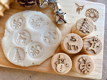 Load image into Gallery viewer, Christmas Playdough Stamps (ETA End of Nov)