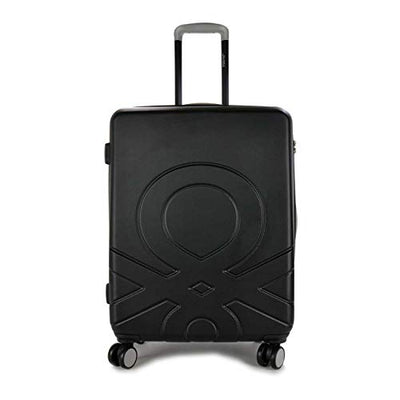 BENETTON MEDIUM TROLLEY 4 WHEELS BLACK C12