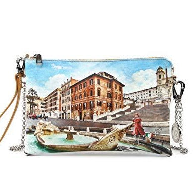 YNOT POCHETTE WITH CHAIN YES-303S0 ROME FOUNTAIN