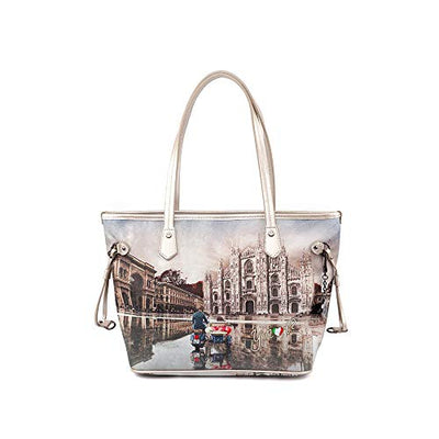 YNOT Shopping Bag Small YES-336F0 MILANO-RACE 38,5 x 13,5 x 24,5 cm