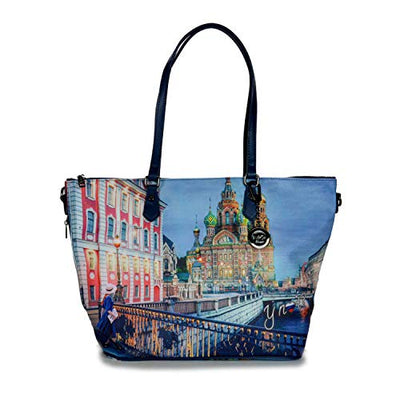 YNOT? SHOPPING BAG YES-397F0 COLORFUL MOSCOW