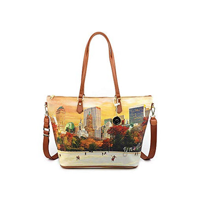 YNOT Shopping Bag Central Park 44.5 x 17 x 29 cm YES-397F0 NEW YORK CENTRAL PARK - TAN