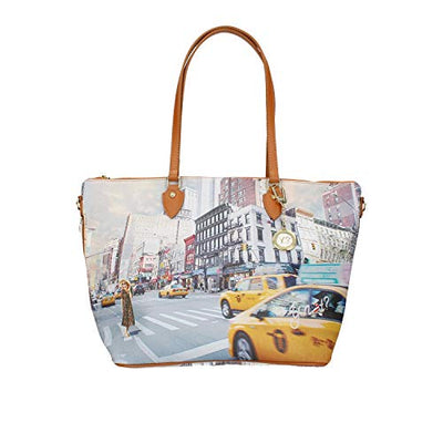 YNOT SHOPPING BAG MEDIUM-WITH ZIP YES-397S0 NY TOWER