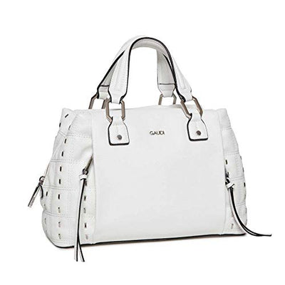 Gaudi TOP HANDLE BAG - linea GINEVRA - CV9E-71122-WHITE - cm.31x20x14