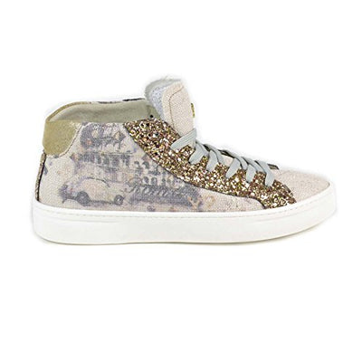 YNOT - Scarpe Donna Sneakers Alte - Stampa Roma