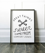 Load image into Gallery viewer, Comfort Zone Inspirational Poster Motivational