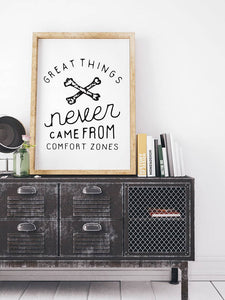 Comfort Zone Inspirational Poster Motivational