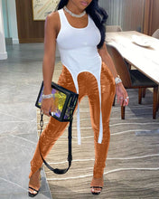 Load image into Gallery viewer, Slit High Waist PU Leather Pants