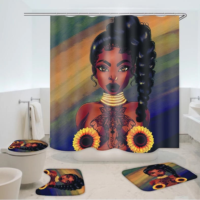 Sunflower Bathroom Set