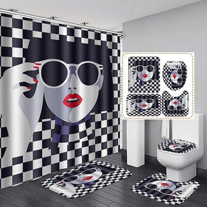 Checkers Bathroom Set