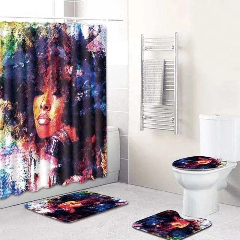 Watercolors Bathroom Set