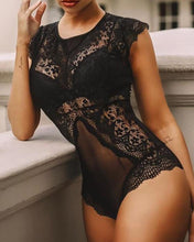Load image into Gallery viewer, Crochet Lace Hollow Out Teddy Bodysuit