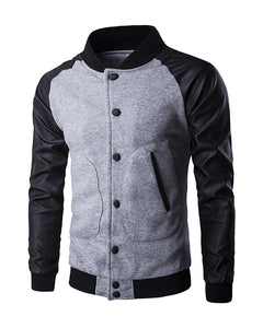 Men Buttoned Pocket Design Bomber Jacket