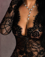Load image into Gallery viewer, Sheer Eyelash Lace Long Sleeve Bodysuit