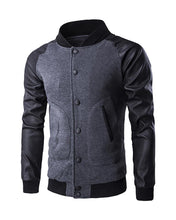 Load image into Gallery viewer, Men Buttoned Pocket Design Bomber Jacket