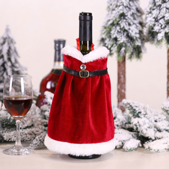 Mrs. Claus Wine Bottle Dress