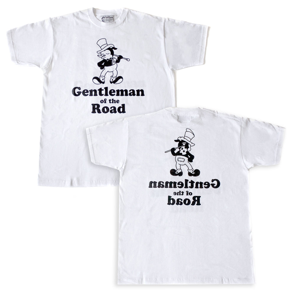 T-shirt. Gentleman of the Road. White