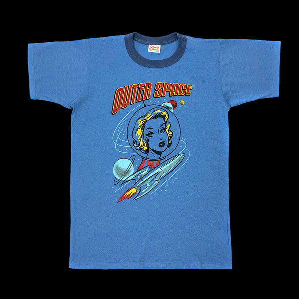 Women's T-shirt. Outer Space. Blue