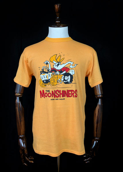 T-shirt. The Moonshiners. Yellow