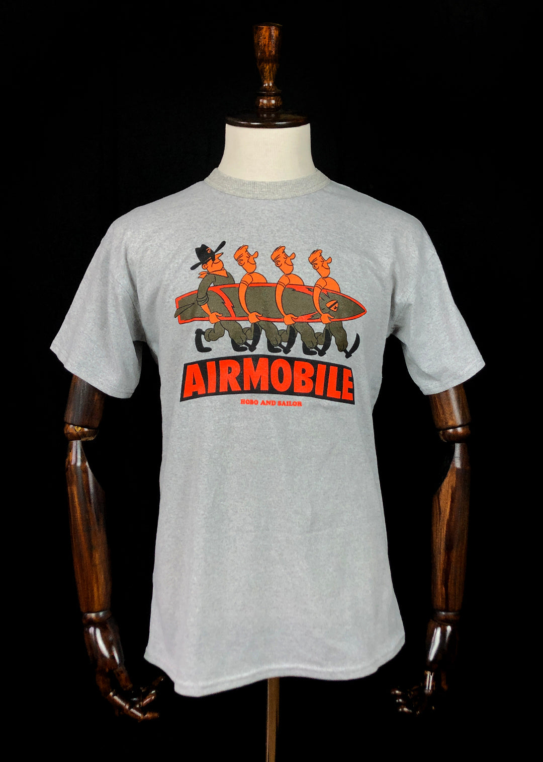 T-shirt. Airmobile. Grey Melange